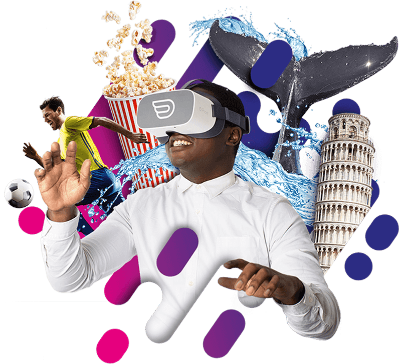 Image of a men with inflight VR headsets having a immersive experiences