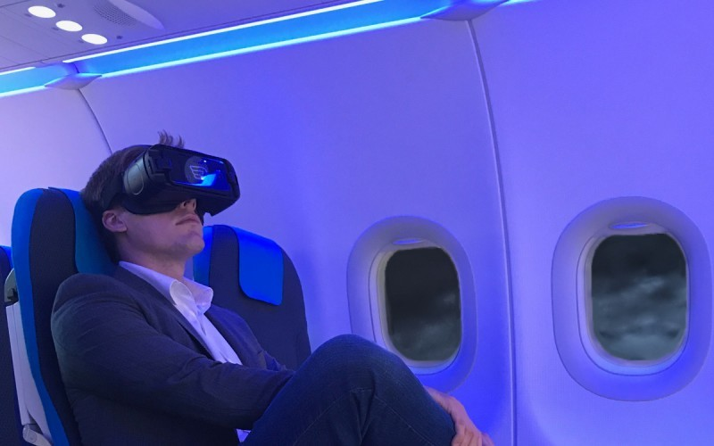 vr inflight experience relaxed passenger high satisfaction
